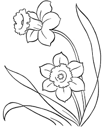 6 best images of spring flower coloring pages cute spring flower