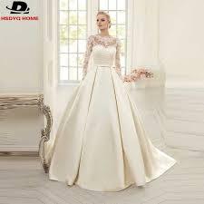 robe de mari e simple dentelle 2017 à manches longues robe de bal simple robes de mariée avec