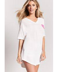 forever 21 heathered t shirt nightdress in gray lyst