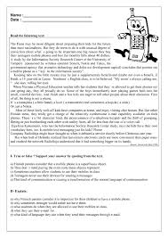 phones reading comprehension worksheet