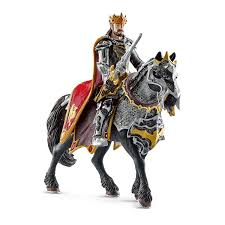 amazon com schleich dragon knight king on horse toy figure toys
