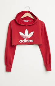 adidas crop top sweater retro gold cropped adidas pullover hoodie at pacsun com fashion