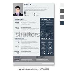 Minimalist Resume Vector Creative Minimalist Cv Resume Template Stock Vector