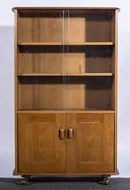 Bookcases With Sliding Glass Doors An Ercol Blonde Beech Bookcase Cabinet Sliding Glass Doors