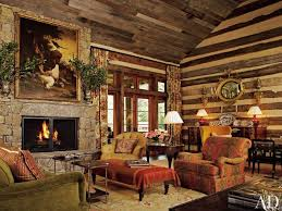 rustic living room ideas natural wall stone modern fireplace