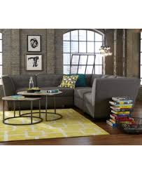 harper fabric 6 piece modular sectional sofa with ottoman created