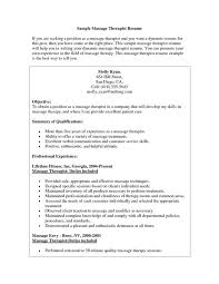 Physical Therapy Sample Resume by Massage Therapist Resumes Massage Therapist Cover Letter Sample