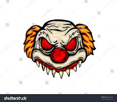 scary halloween mask costume evil clown stock vector 495297667