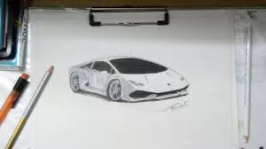 lamborghini huracan sketch drawing lamborghini huracan time lapse youtube