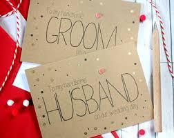 wedding card to groom from groom card etsy