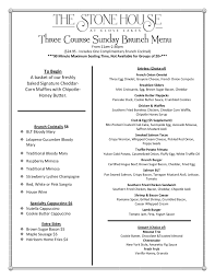 brunch menu the stone house