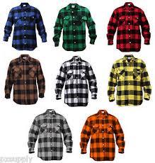 Flannel Shirts Mens Brawny Buffalo Plaid Flannel Shirt Sleeve Heavyweight