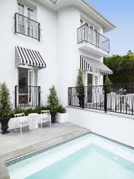 White Awning Adore These Black And White Striped Awnings Outdoor Rooms