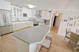 concrete kitchen countertops with white cabinets monsterlune