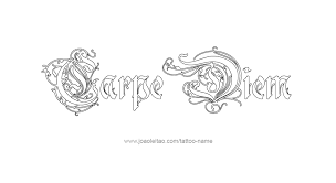 carpe diem phrase designs page 4 of 5 tattoos with names