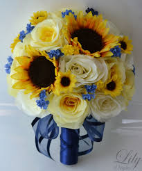 sunflower bouquet 17 pieces wedding bridal bouquet sunflower package
