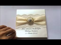 wedding invitations with ribbon lace wedding invitation with ribbon and rhinestone buckle from