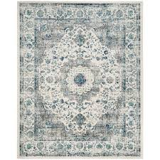 Gray Blue Area Rug Safavieh Evoke Gray Ivory 8 Ft X 10 Ft Area Rug Evk220d 8 The