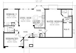 open house plan smartness inspiration 5 2 bedroom open floor house plans 1296