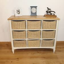Chest Of Drawers With Wicker Drawers Oak Top Multi Chest Of Drawers With Wicker Basket Storage Painted