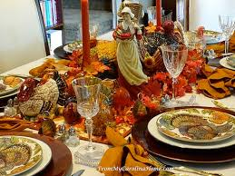 thanksgiving tablescape and hop from my carolina home