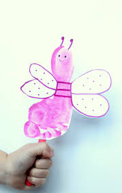 love bug footprint puppet craft coffee cups and crayons