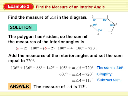 How To Calculate Interior Angles Of An Irregular Polygon Section 8 2 Find The Measures Of The Interior Angles Of A Polygon