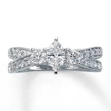 kay jewelers engagement rings kay diamond engagement ring 1 ct tw marquise cut 14k white gold