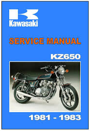 kawasaki workshop manual kz650 z650 csr sr 1981 1982 u0026 1983