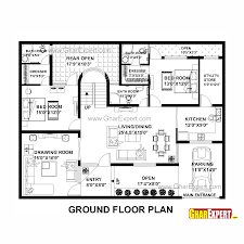 house plan for 55 feet by 42 feet plot plot size 257 square yards