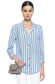 periwinkle blouse equipment keira silk blouse in periwinkle blue fwrd