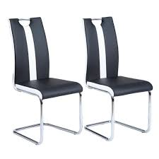 chaise noir et blanc jade lot de 2 chaises de salle à manger simili noir et blanc