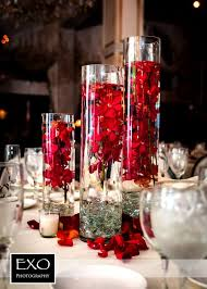 centerpieces for wedding reception wedding decorations with roses 2889