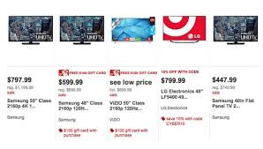 target black friday 50 inch 4k smart tv deal tv cyber monday deals rock target cyber monday 2015 sale