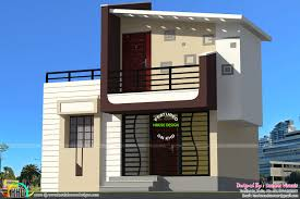 300 Sq Ft by 1400 Sq Ft Contemporary House In Small Plot Kerala Home Design
