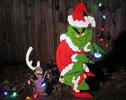 The Grinch Christmas Lights Grinch Yard Art Etsy