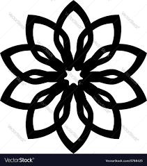 ornaments leaf flower silhouette royalty free vector image