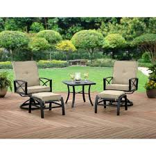 extraordinary patio chairs with ottomans 5 piece patio furniture