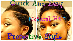 quick and easy protective style for short medium 4b 4c natural