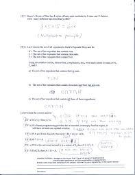 Sets Union Intersection Complement Worksheets Math110 Elementary Mathematical Models Spring 2009 Changhui Tan