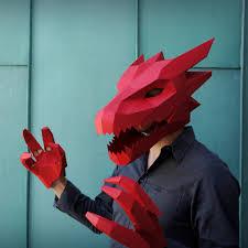 zip mask halloween wintercroft com print template u0026 make own mask dragon head v2