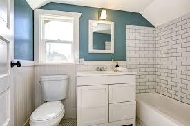 easy bathroom makeover ideas bathroom diy bathroom mirror frame for under 10 blue wood stain