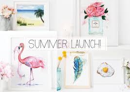 Beach Decor Shop Summer Art Print Launch