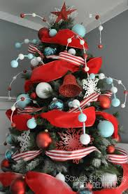 christmas img235 decorating christmas tree with ribbon ideas