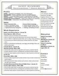 12 useful materials for medical transcription emt resume sample