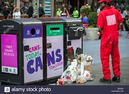 Trash Compactors by Solar Powered Trash Compactors Are Seen In Times Square In New