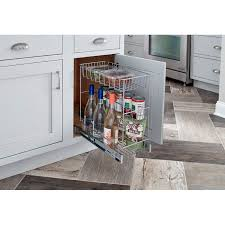 kitchen cabinet slide out closetmaid 3 tier compact kitchen cabinet pull out basket