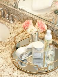 Pink And Gold Bathroom by Current Skincare Favorites Apartments Trays And Vanities