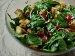 sunny u0027s spicy spinach panzanella u2014 the weekender fn dish