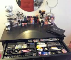 Makeup Organizer Desk My Makeup Vanity Makeup Organization All Done Within A